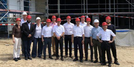 Panasonic und digitalSTROM besuchen Baustelle