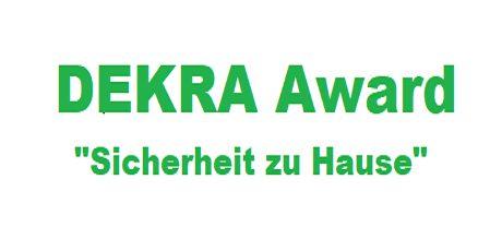 """Nominierung für DEKRA Award """"Sicherheit zu Hause"""""""