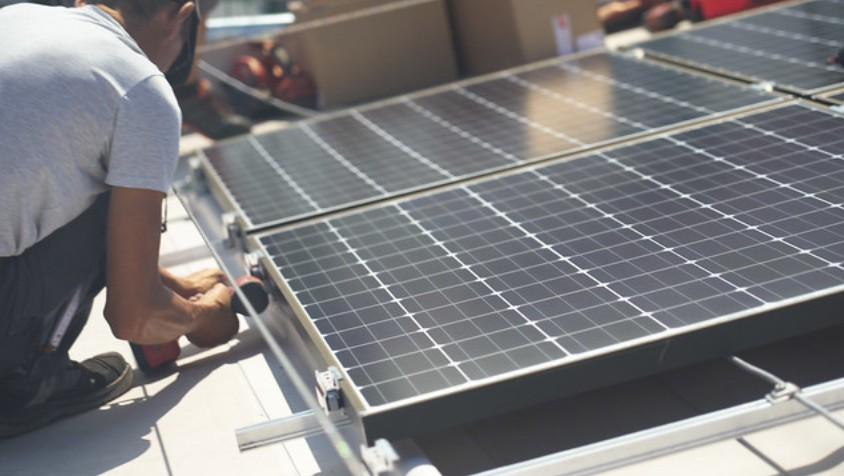 Installation Photovoltaik